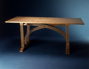 Cross Table, solid top