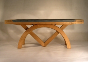 Sextant extending Slate top Table
