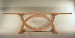 Split Ring Oak Table