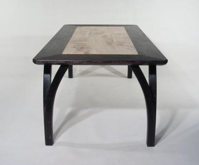 Wishbone Table in scorched oak